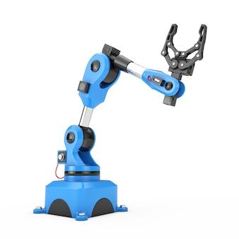Промышленный механический роботизированный манипулятор руки на белой предпосылке. 3d рендеринг