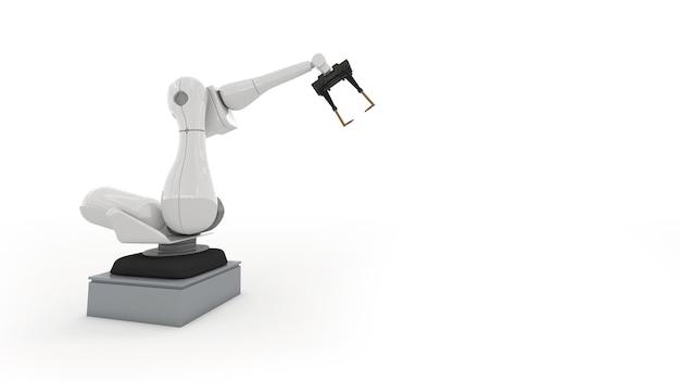 工場で活躍する産業用ロボットアーム