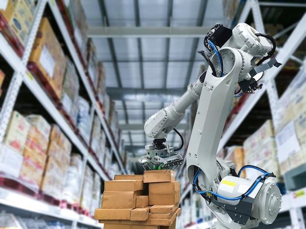패키지를 유지하기 위한 산업용 로봇 팔 로딩 카톤