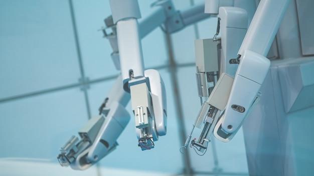 산업용 로봇 손과 회전 손가락 끝