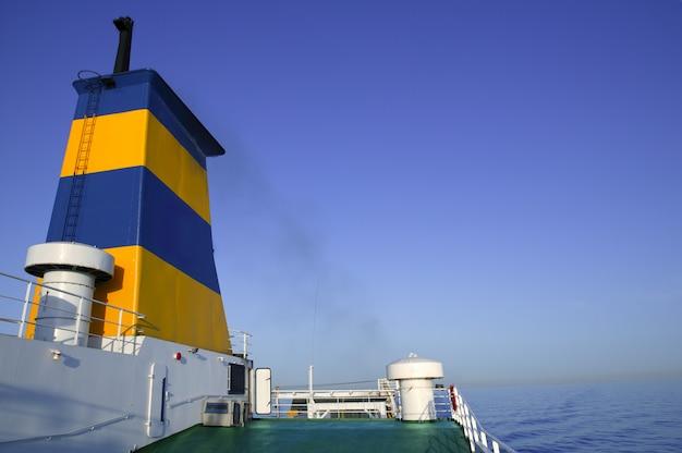 Industrial ship sailing