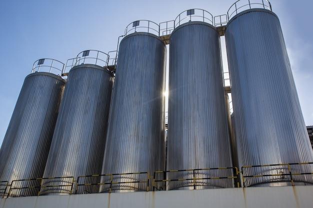 탱크 스테인리스 스틸로 된 식품 우유 생산을 위한 산업용 사일로