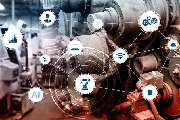 Технологическая концепция индустрии 4.0 - умная фабрика для четвертой промышленной революции