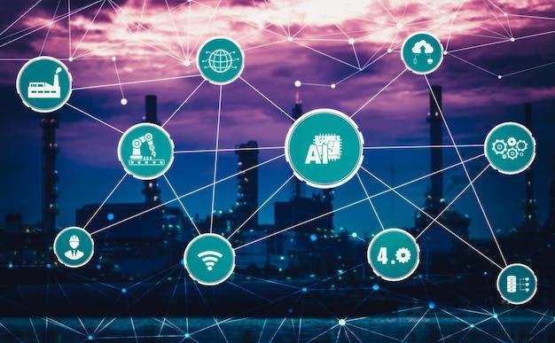 インダストリー4.0テクノロジーコンセプト-4番目の産業革命のためのスマートファクトリー