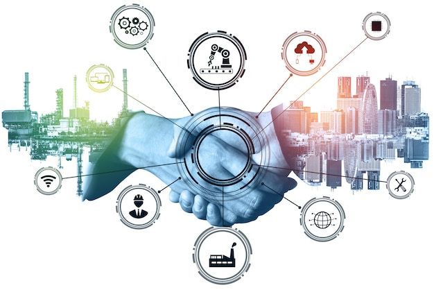 Industry 4.0 technology concept. smart factory for fourth industrial revolution