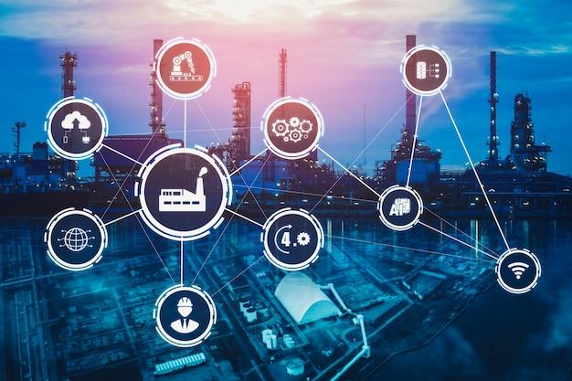 Концепция промышленных технологий с умным заводом для четвертой промышленной революции