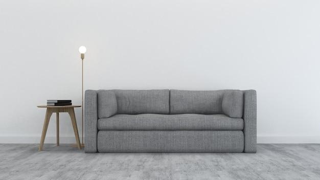 The inerior relax space in condominium