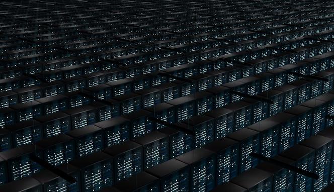 Infinite room of network servers