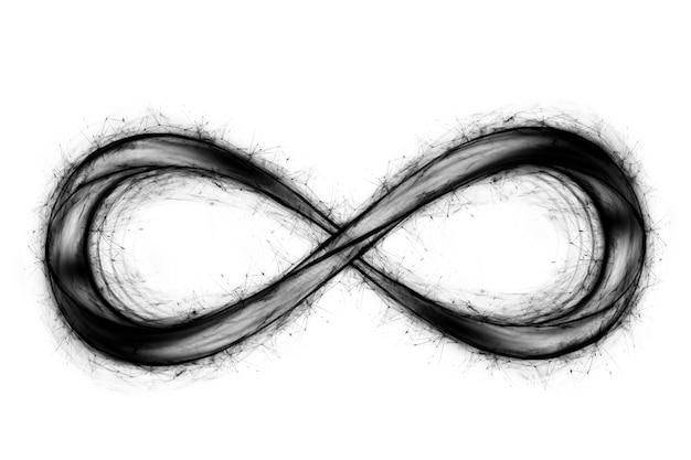 Голограмма знак бесконечности изолированные