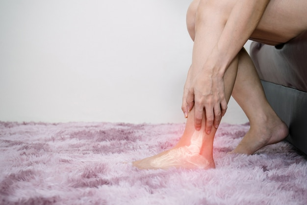 Inflammation bone ankle of humans with arthritis