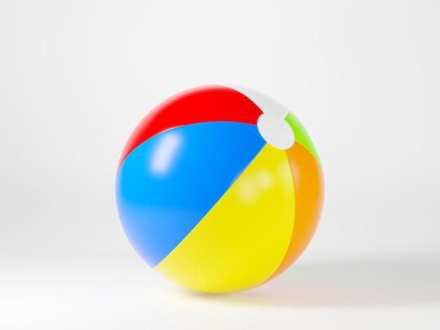 스포츠 게임 여름 3d 렌더링 그림을위한 풍선 비치 볼 모형 빛 구 장난감