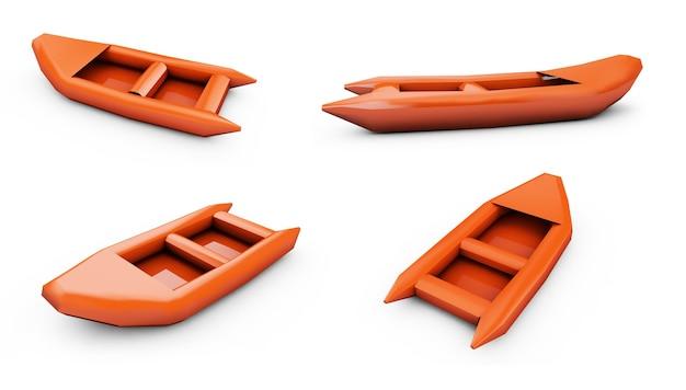 풍선 보트 3d 렌더링