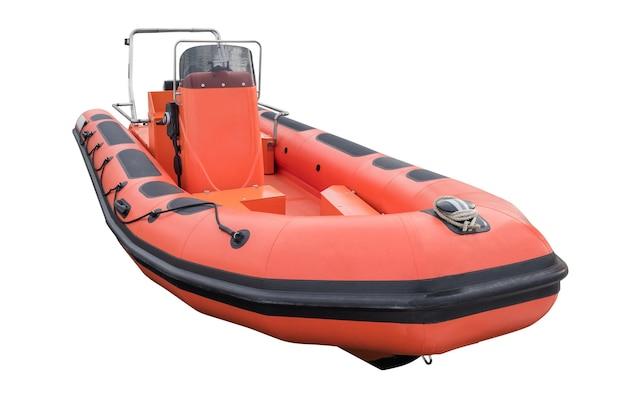 白で隔離される膨脹可能なボート