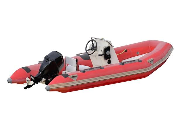 Надувная лодка, изолированные на белом фоне