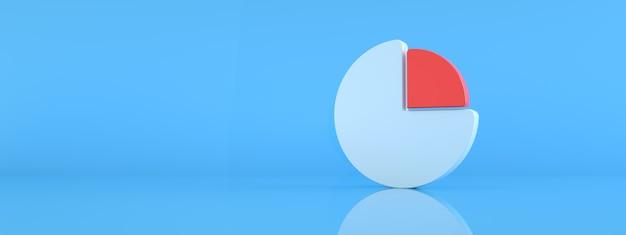 青い背景の上のインフォグラフィックデザインテンプレート、あなたのウェブサイトのデザインのグラフシンボル、3dレンダリング、パノラマ画像