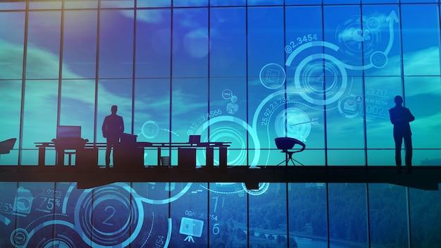 オフィスの背景の成長のインフォグラフィック