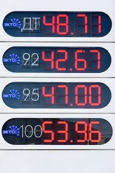 도시 주유소의 휘발유 가격 정보 게시판