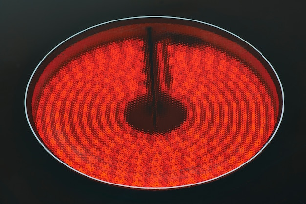 Infrared oven plate on black background