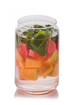 Infused water mix of  watermelon, mint leaf and papaya