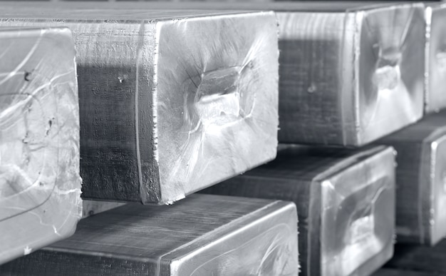 Ingots in a foundry