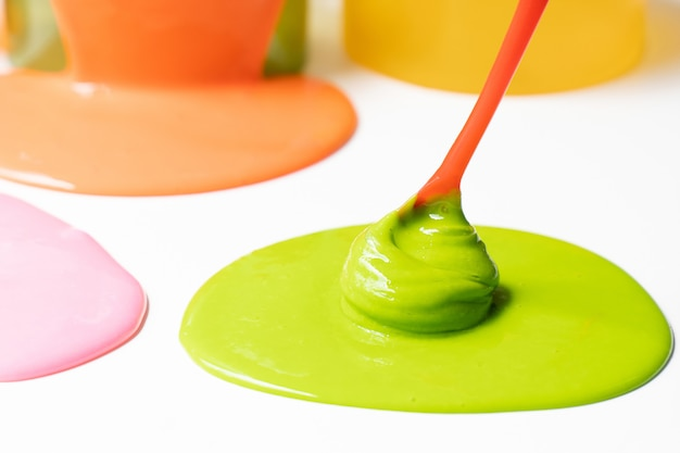Ingredient of chemical slime or goop.  science experiment homemade toy for kids.