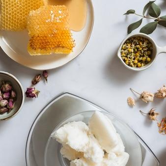 Ingredients arrangement flat lay