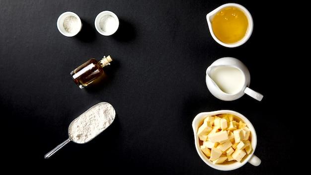 Ingredients for baking cake, pie, cake or muffin