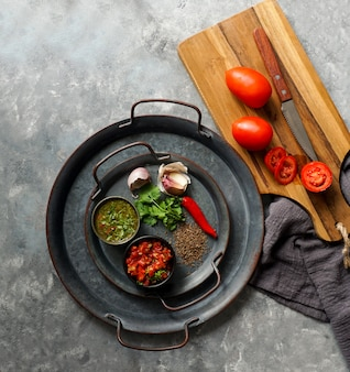 Ingredients for colombian sauce