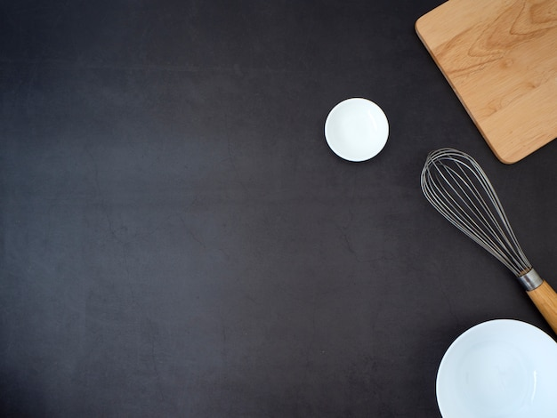 Ingredients concept of home cooking
