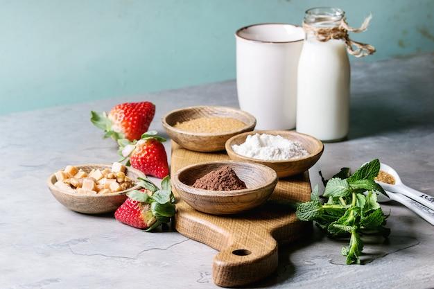 Ingredients for cooking mug cake