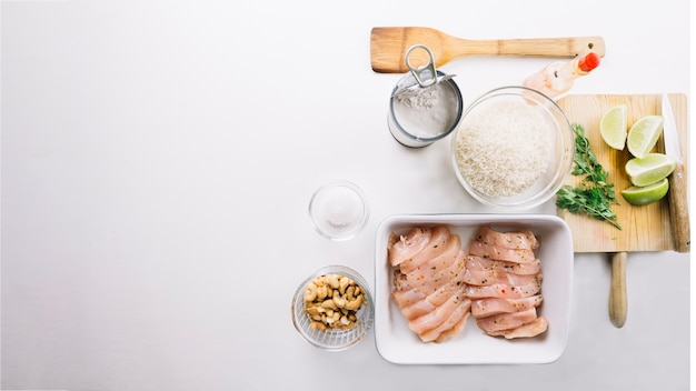 Ingredients for delicious dish