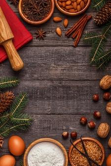 Ингредиенты для приготовления рождественской выпечки