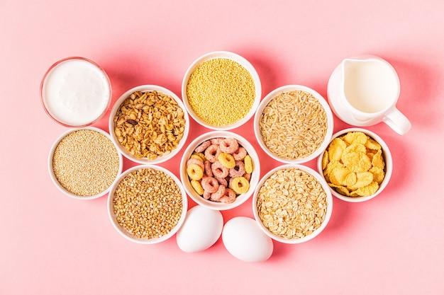 ボウルで健康的な朝食を作るための材料