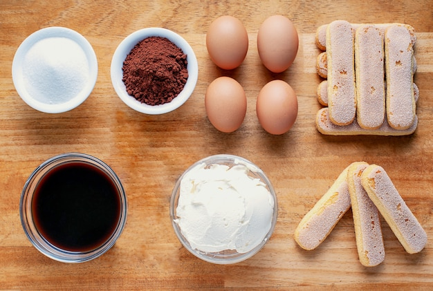 Ингредиенты для итальянского десерта тирамису