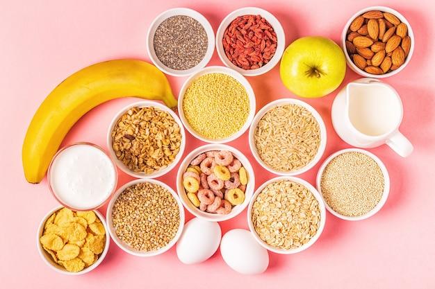 健康的な朝食を作るための材料