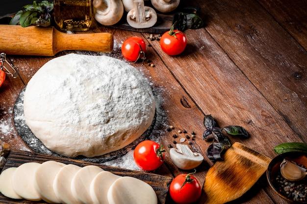피자를 만들기위한 재료