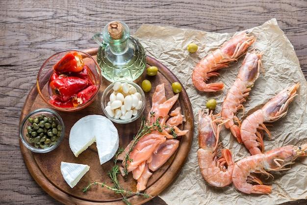 地中海式食事の材料