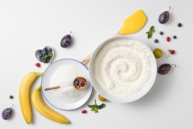 バナナケーキの材料