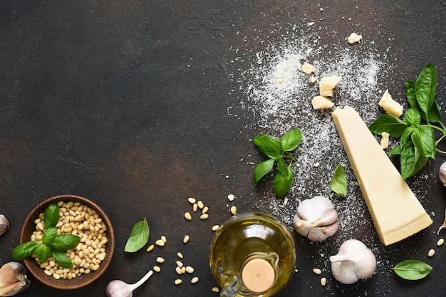 Ингредиенты для соуса песто