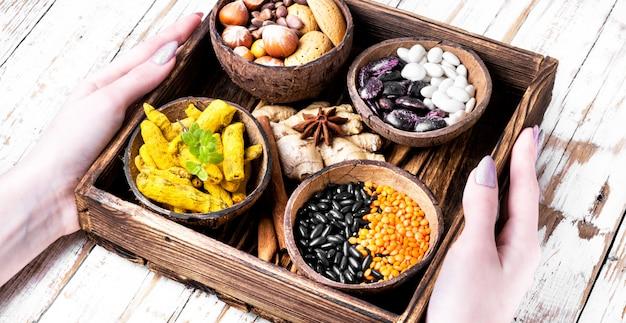 Ingredients of healthy food