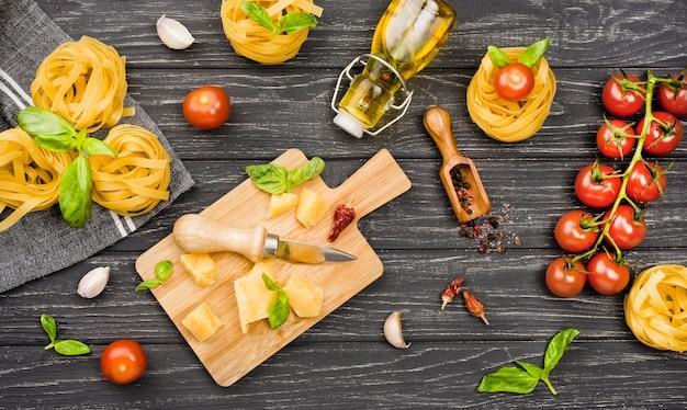 Ingredients for italian food