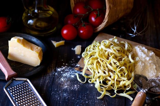 Ingredients for italian pasta.