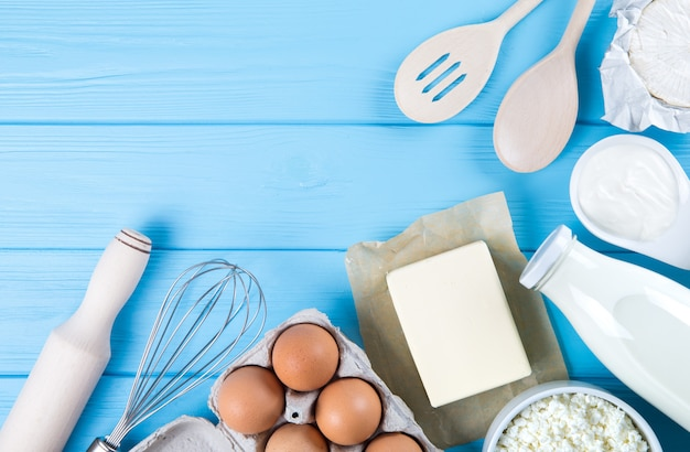 Ingredients and kitchen tools