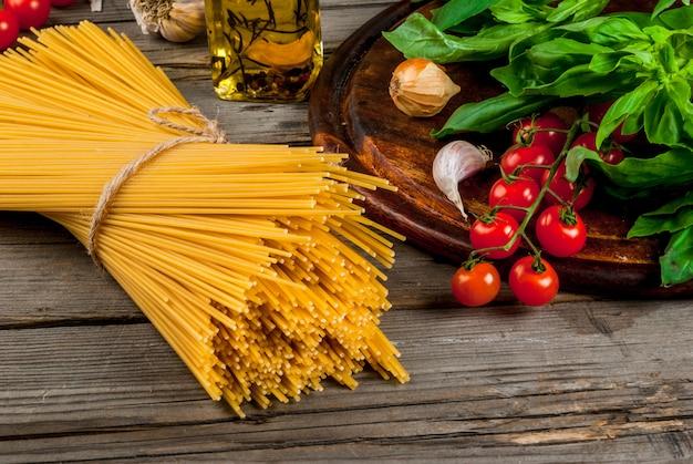 Ingredients for making pasta