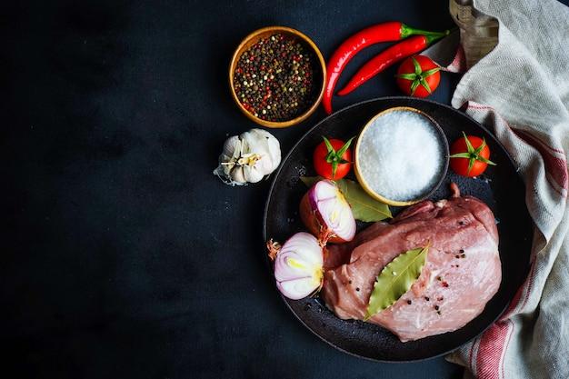 Ingredients for souzi dish