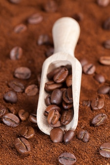 Ingredients that can be used to make a hot, invigorating coffee drink