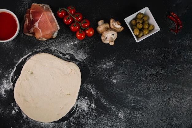 Ingredienti per una gustosa pizza