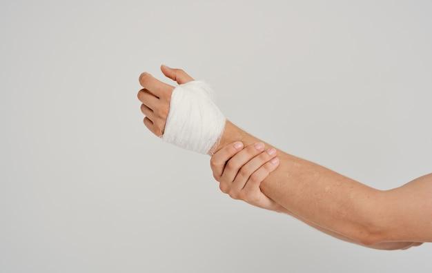 Injured arm bandaging patient health problems medicine