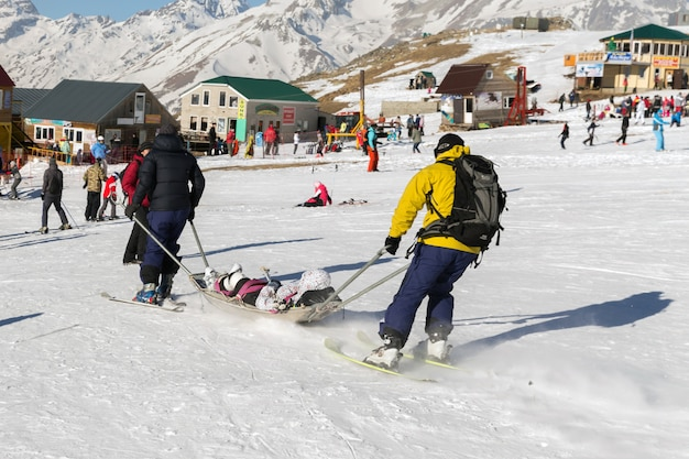 부상 스키
