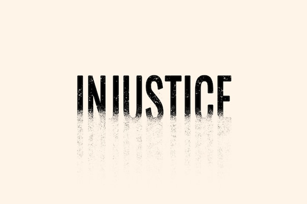Injustice typography in crumble font